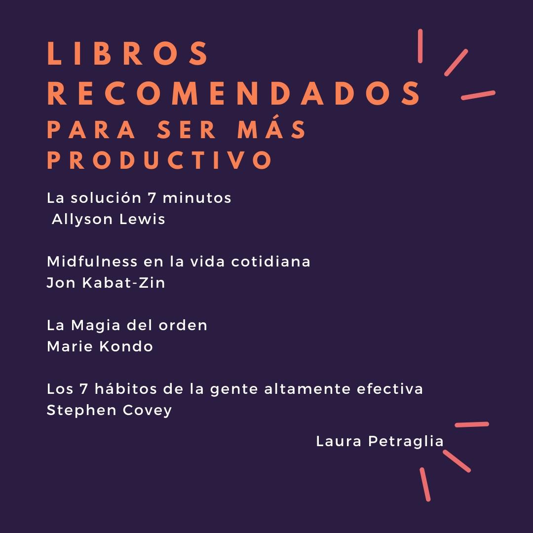 Libros recomendados para ser más productivo